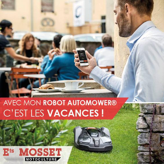 Mosset motoculture robot automower vacances