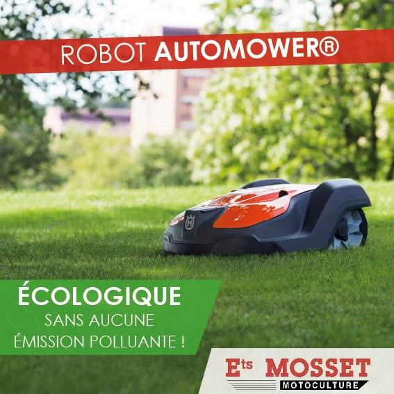 Limitez votre impact ecologique avec le robot automower