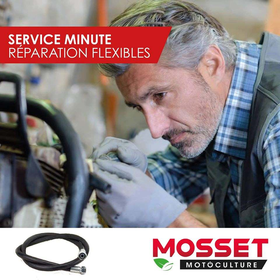 Service minute pour la réparation de flexibles