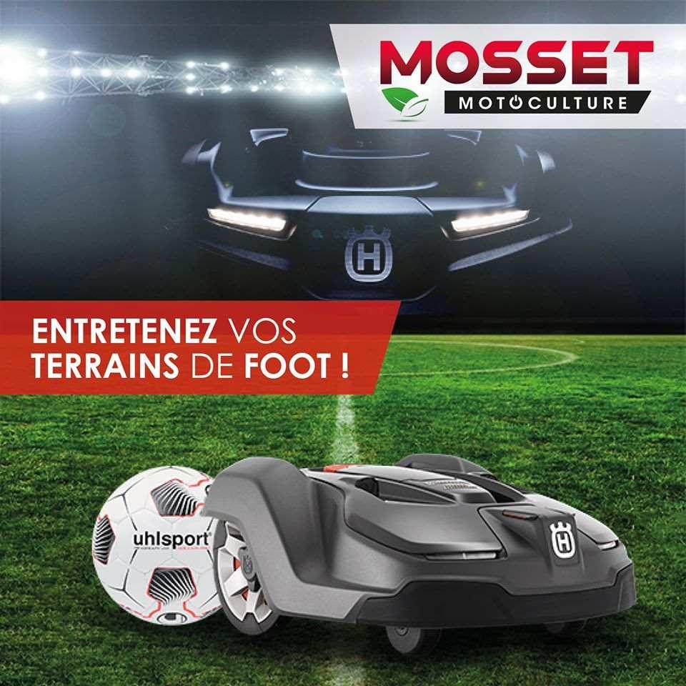 Entretenez vos terrains de foot avec les robots automower Mosset