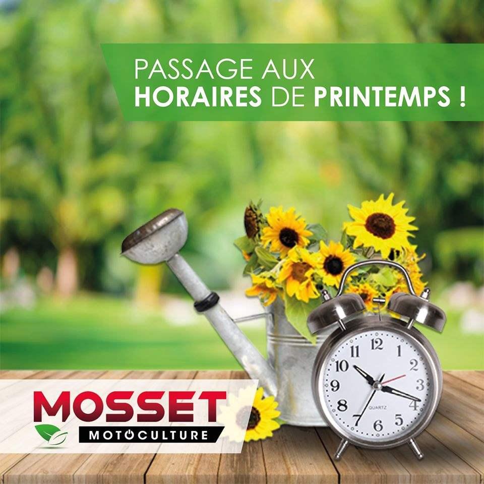 Horaires de printemps Mosset