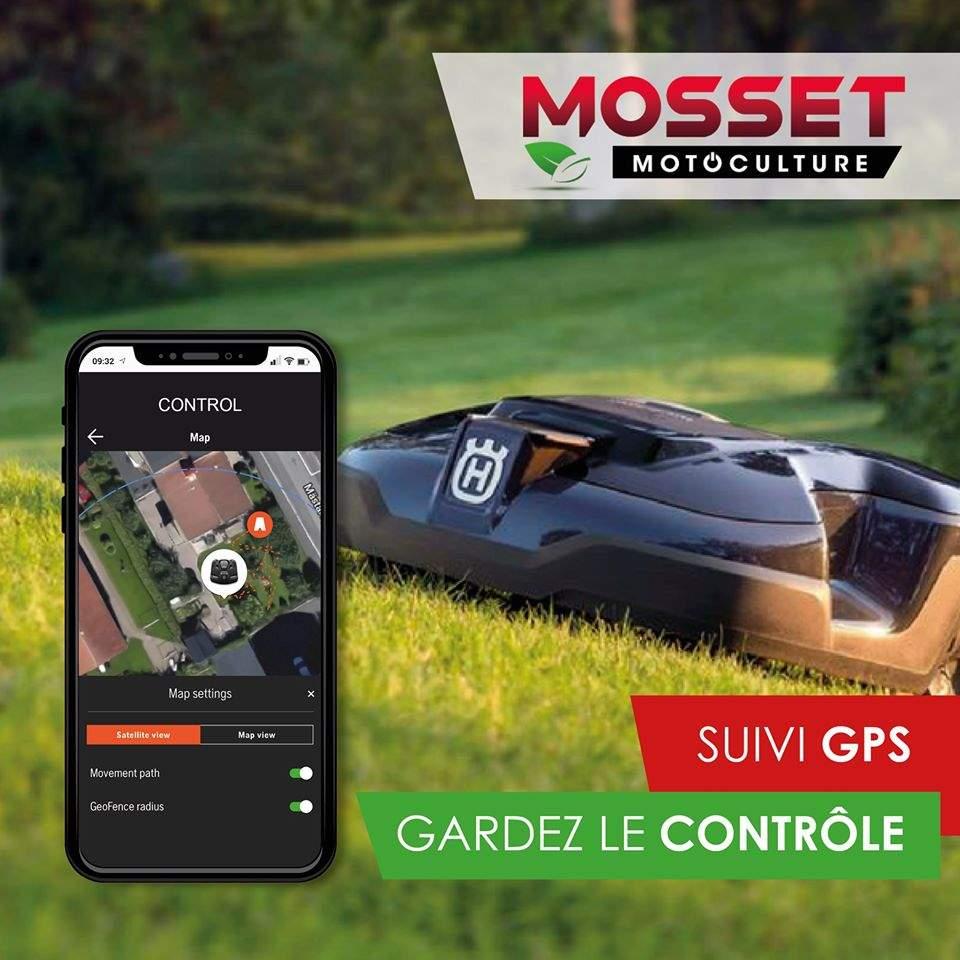 Suivi GPS de votre tondeuse automower Mosset
