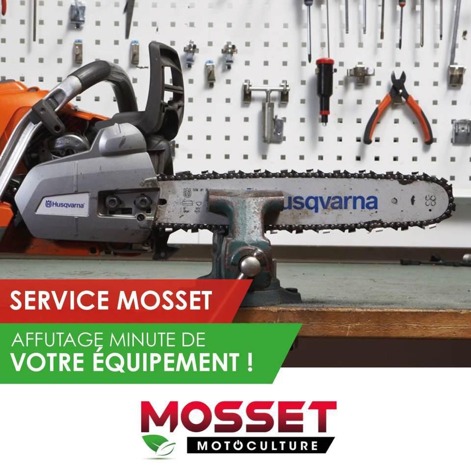 Les services MOSSET Affutage minute